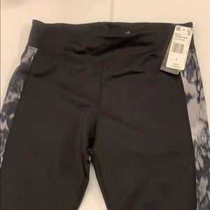 New Adidas Climalite printed tight Q black size L